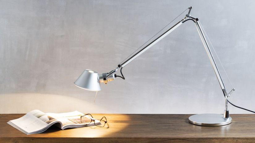 Lampe de lecture métal et pied articulé