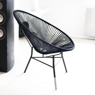 fauteuil acapulco noir