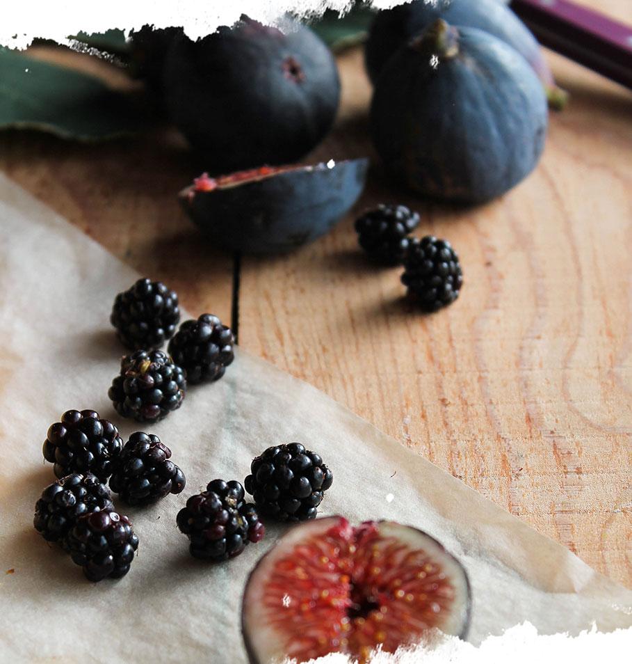 Tarte aux figues et aux mûres