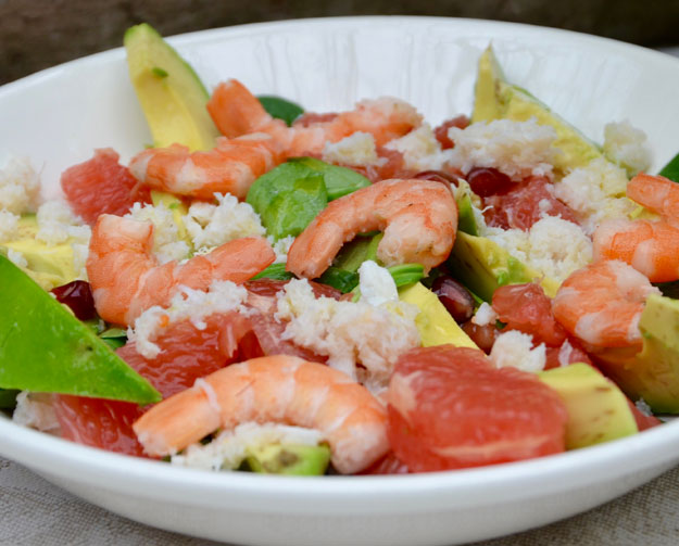 salade de crabe pamplemous