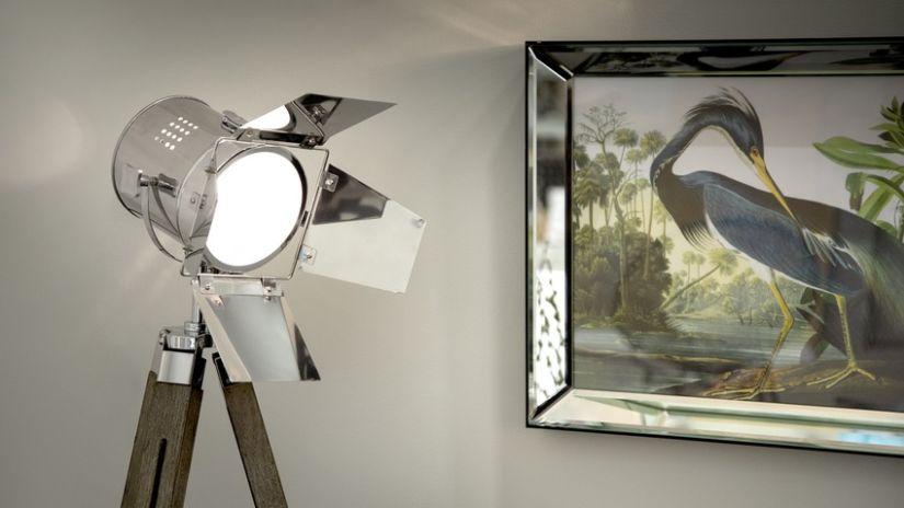 Lampe vintage de style spot de cinéma