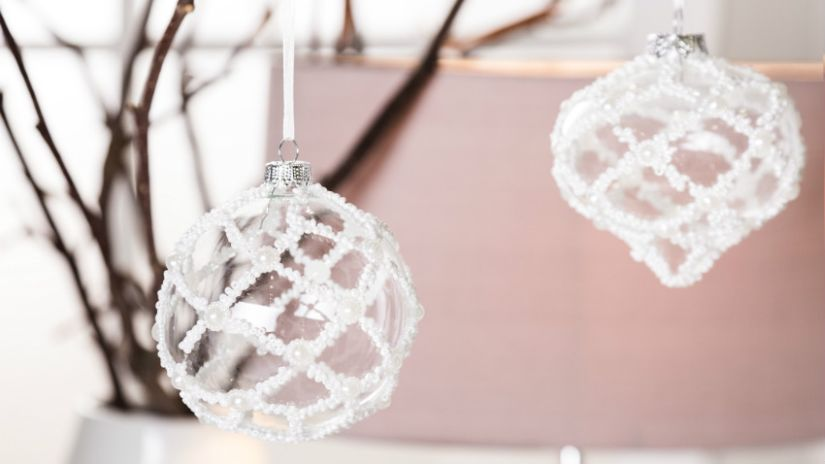 Boule de Noël transparente en verre