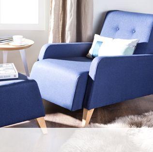 Fauteuil bleu de style rétro