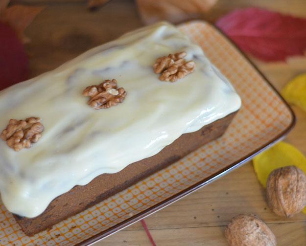 Cake d'automne butternut et noix