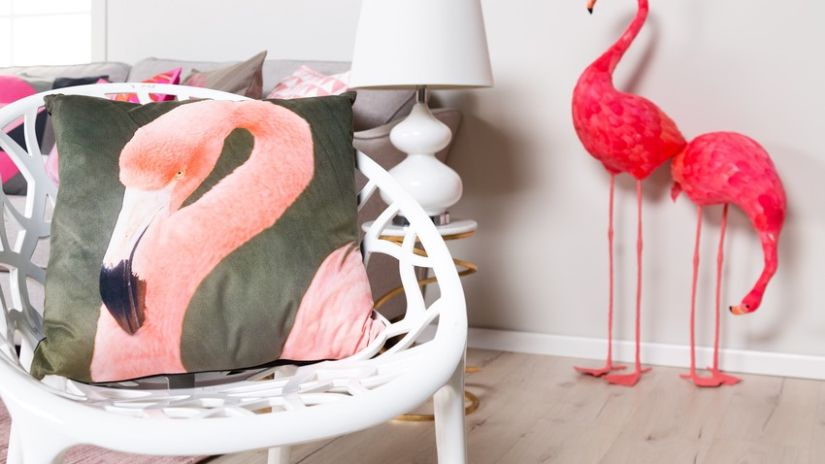 Housse de coussin 60x60 flament rose