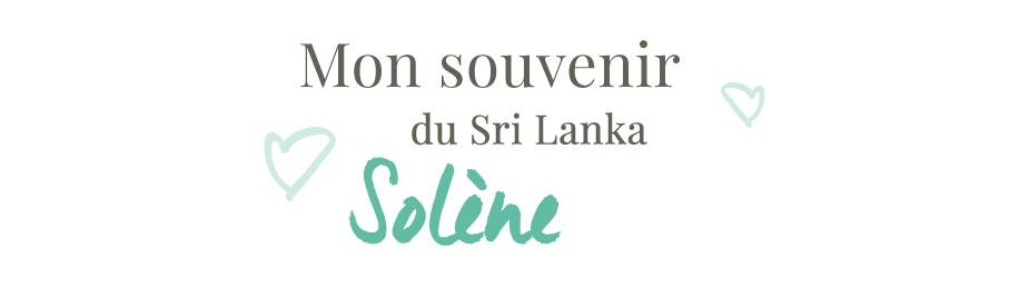 Mon souvenir du Stri Lanka
