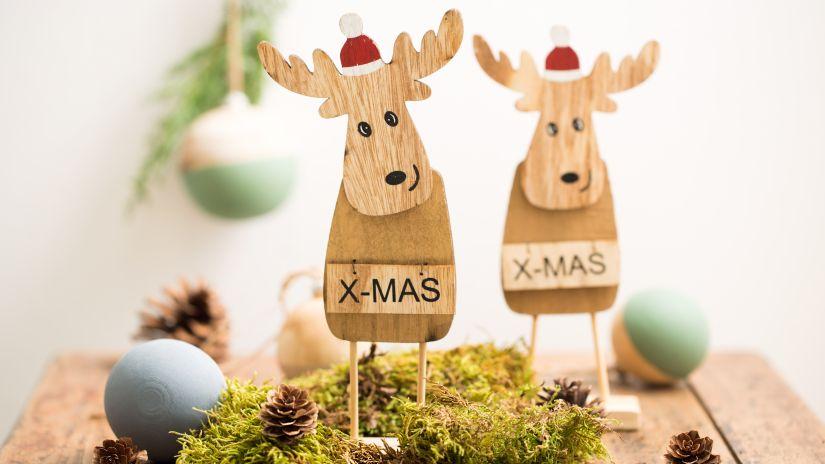 Décoration en bois pour Noël