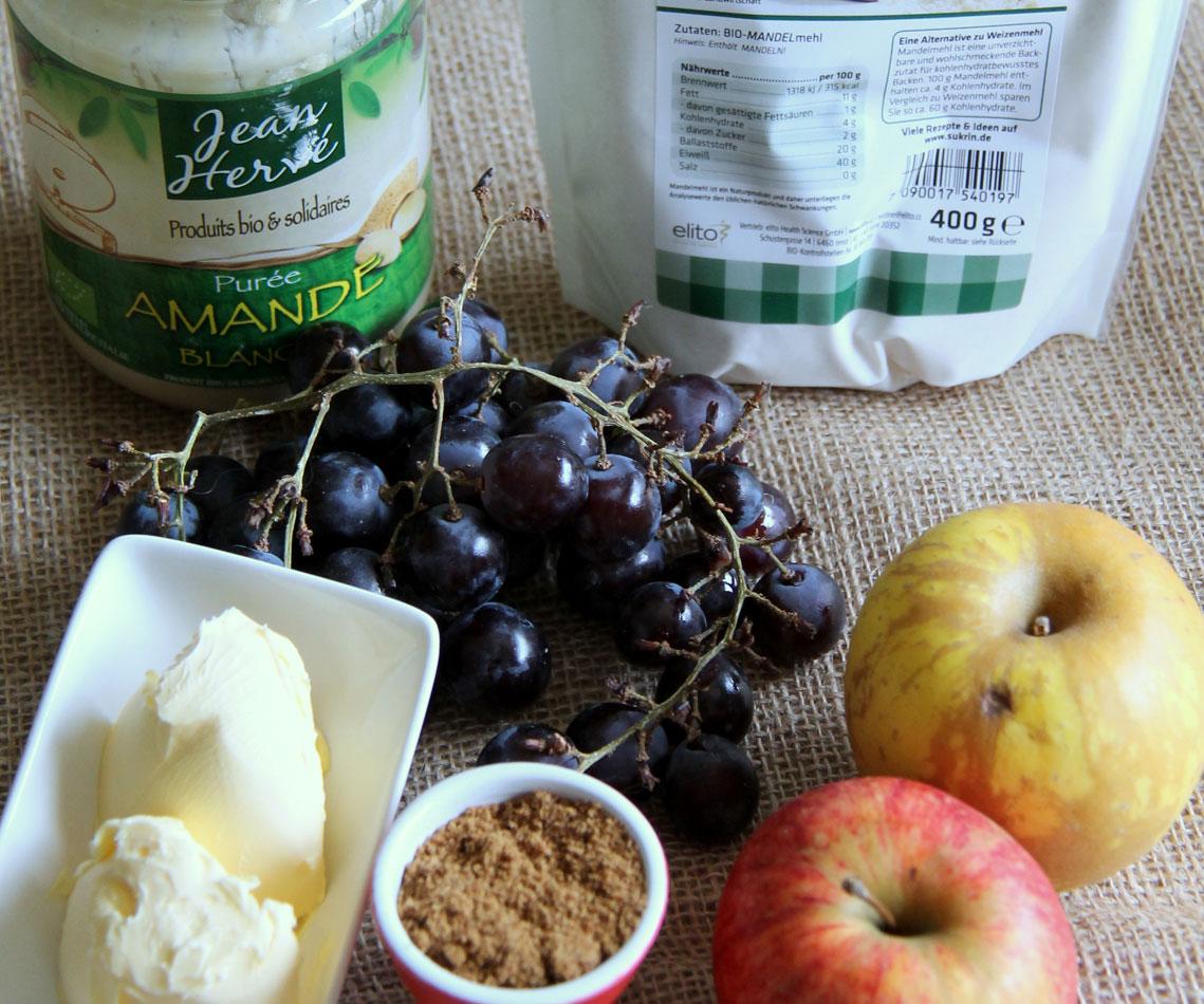 Crumble pommes et raisins