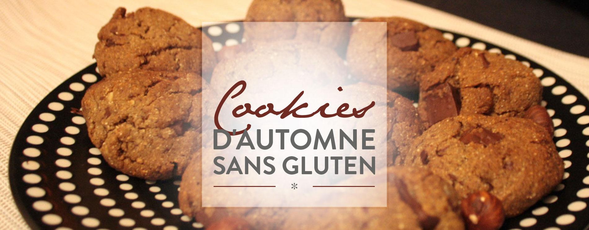 Cookies d'automne sans gluten