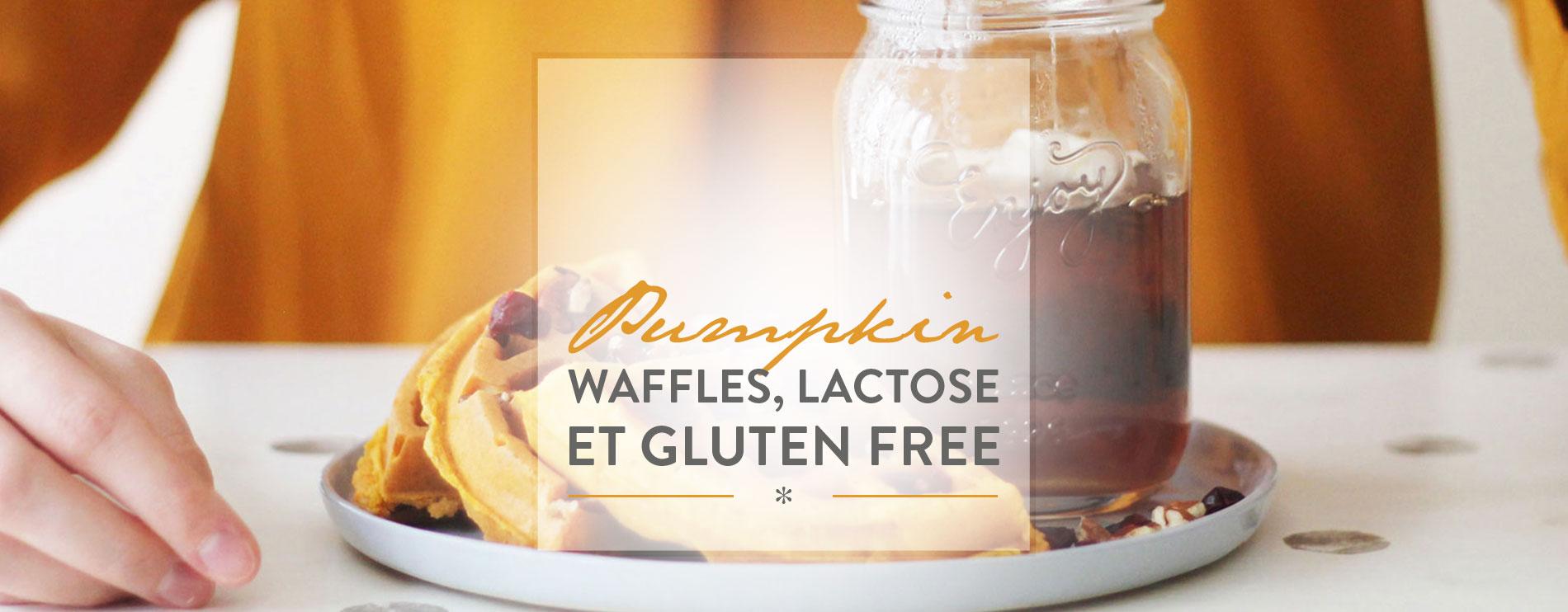 Pumpkin waffles,lactose et gluten free