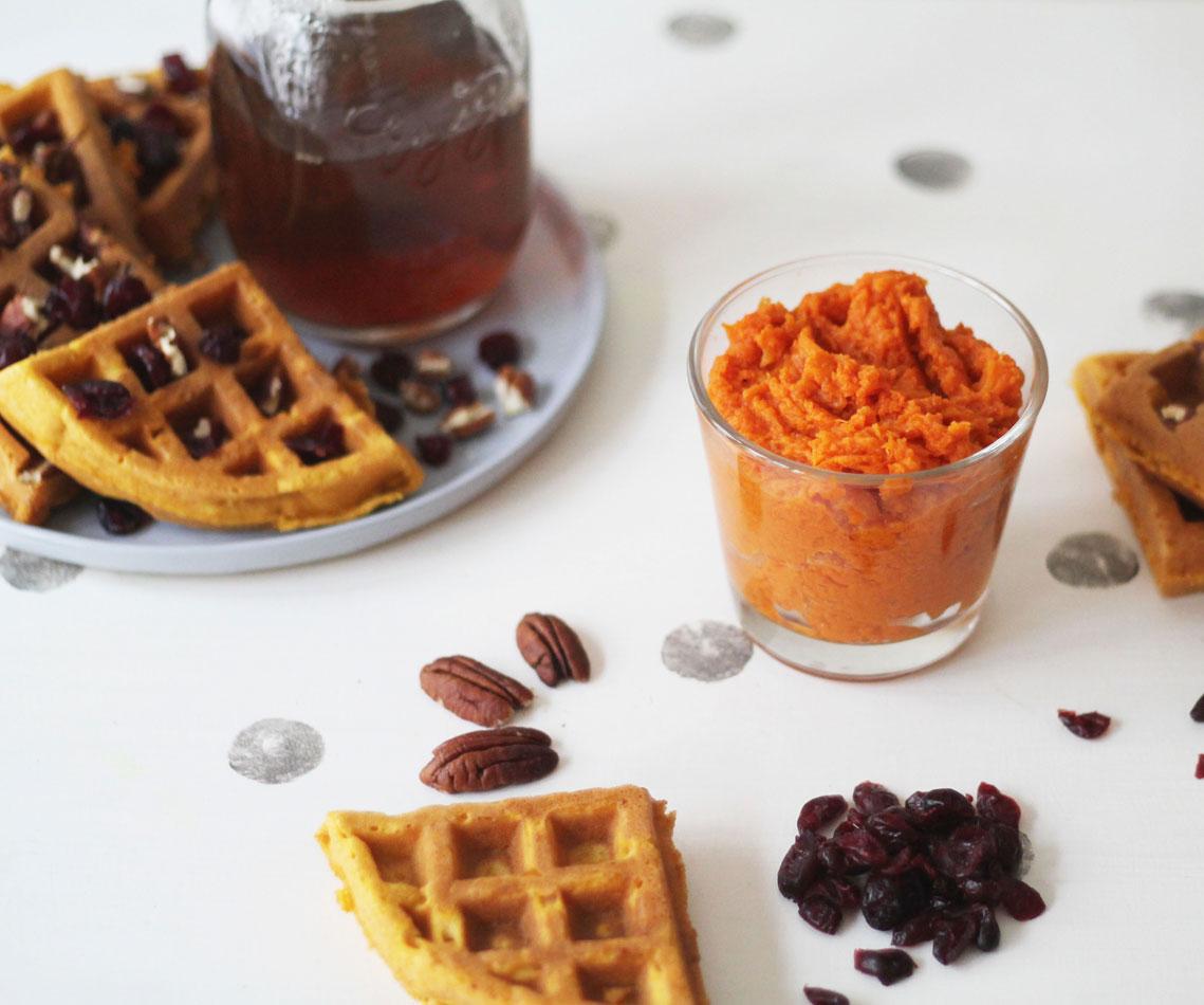 Pumpkin waffles, lactose et gluten free