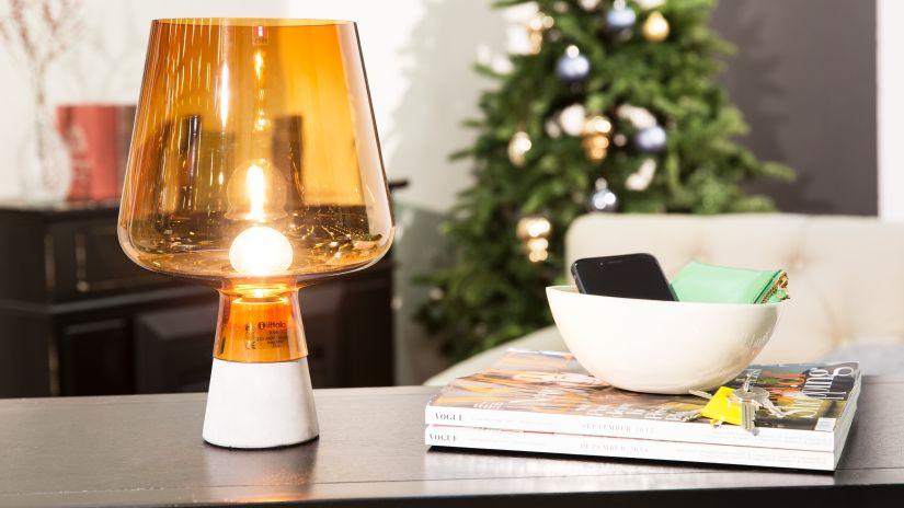 Lampe orange clair