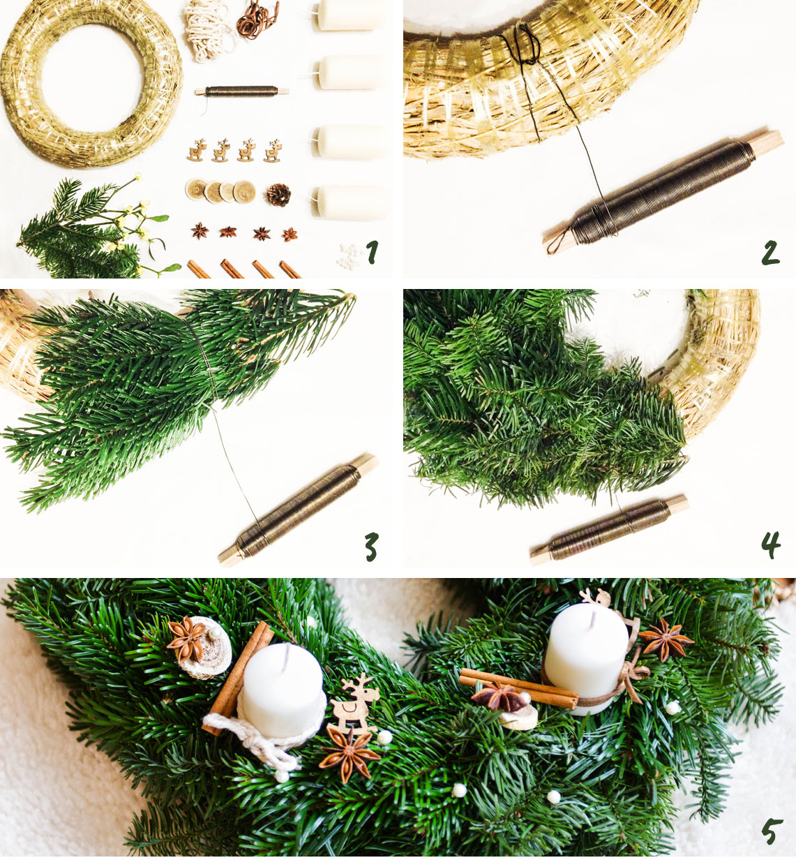 westwing - DIY Couronne de l'Avent