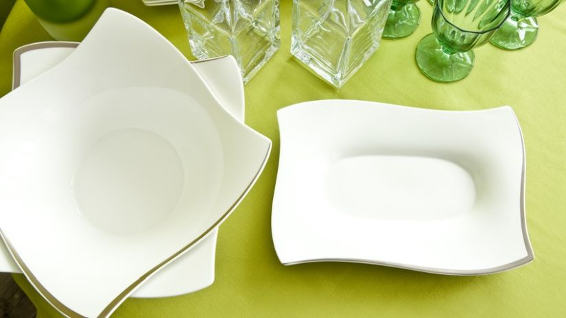 Assiettes design blanches