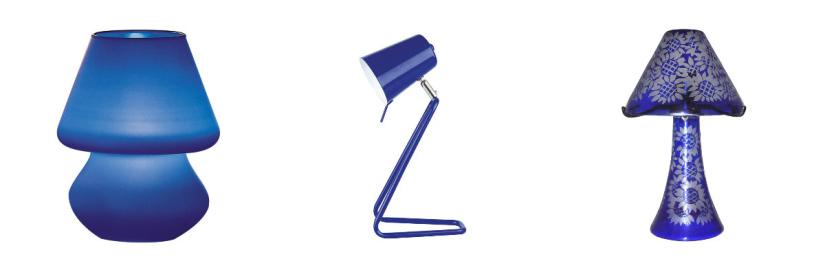 lampes à poser bleu foncé