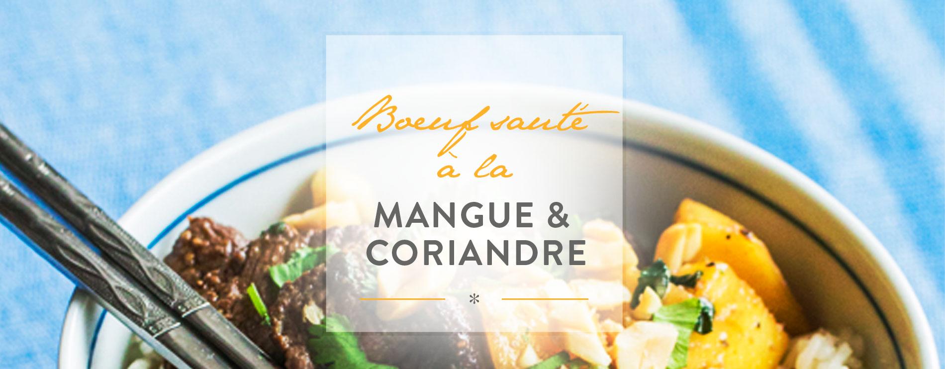 westwing-Boeuf sauté à la mangue et à la coriandre
