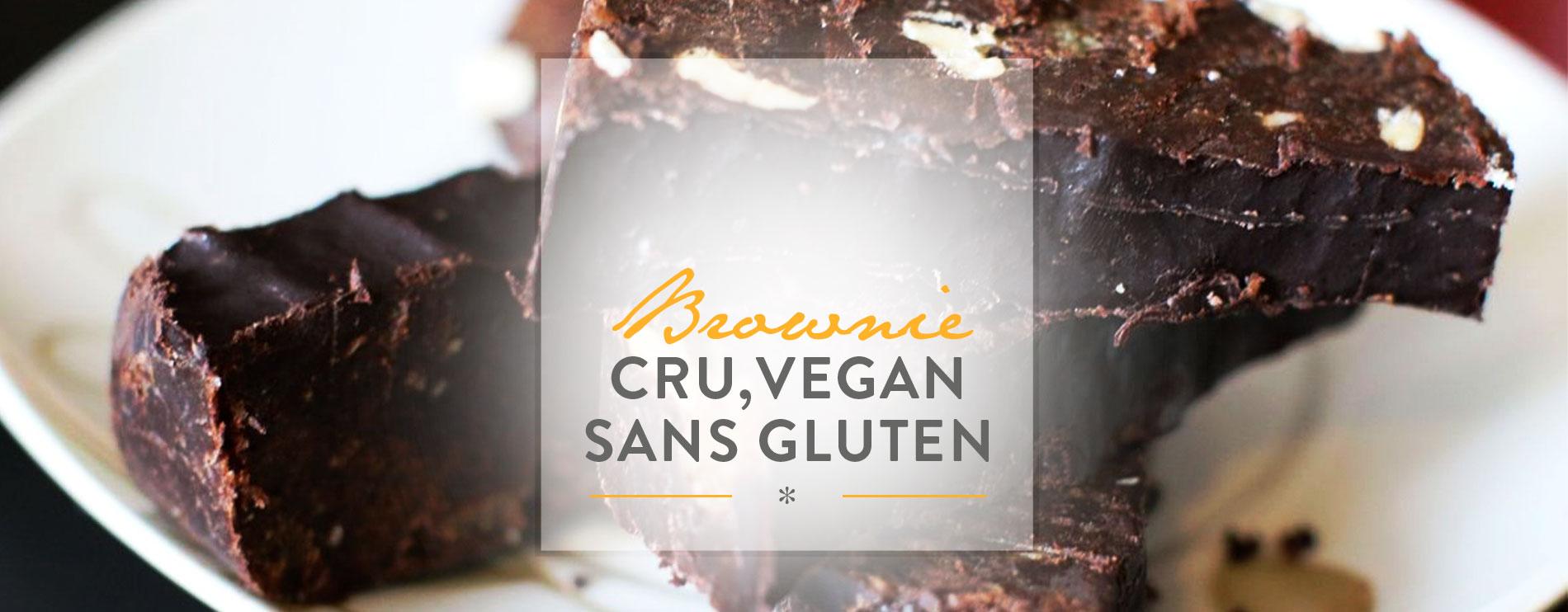 westwing-Brownie fondant, cru, vegan et sans gluten