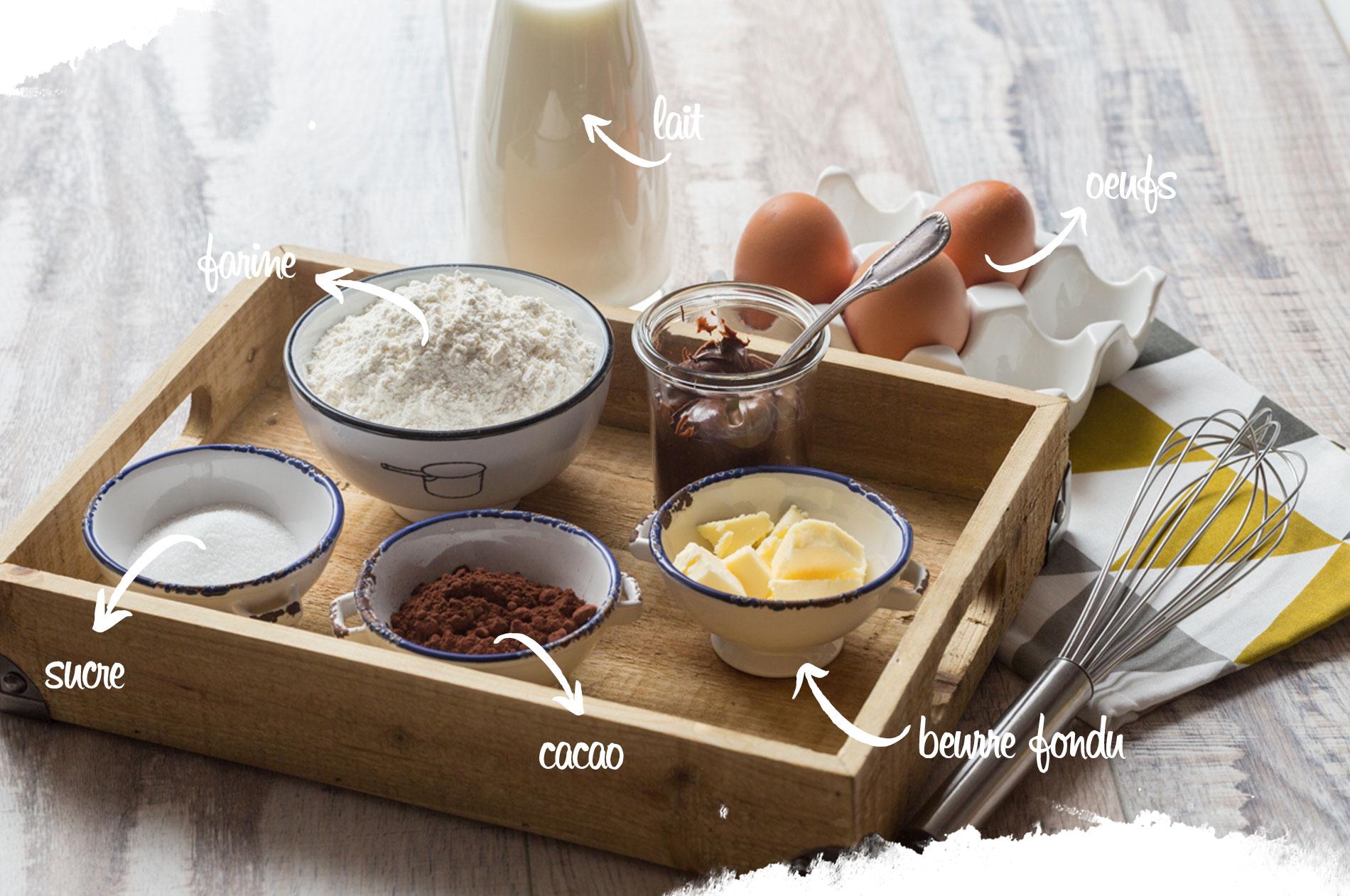 Ingrédients pour crêpes sucettes
