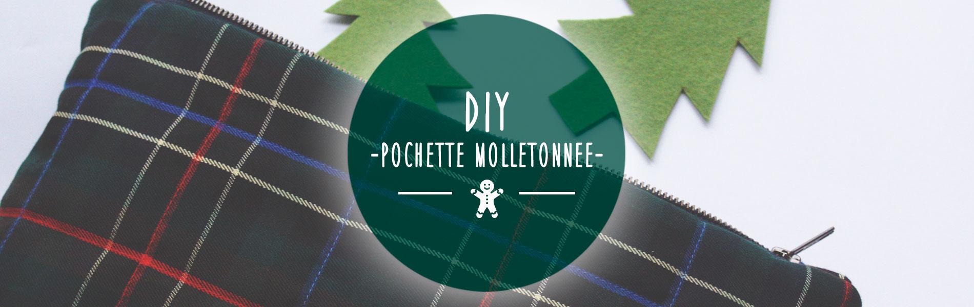 DIY Pochette molletonnée