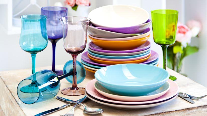 Assiette creuse bleu turquoise