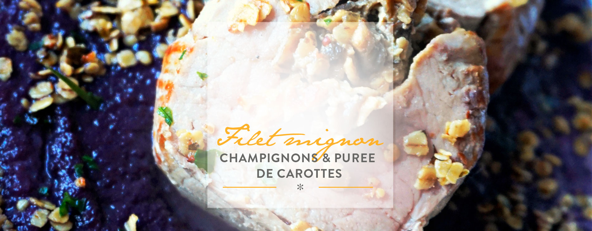 westwing-Filet mignon aux champignons et purée de carottes