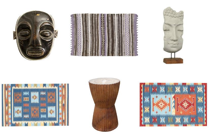 Objets de décoration de style ethnique