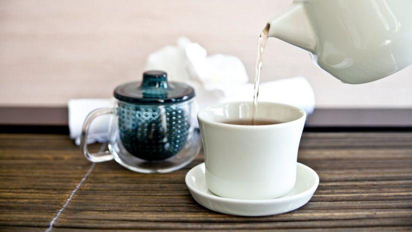Tasse à thé transparente