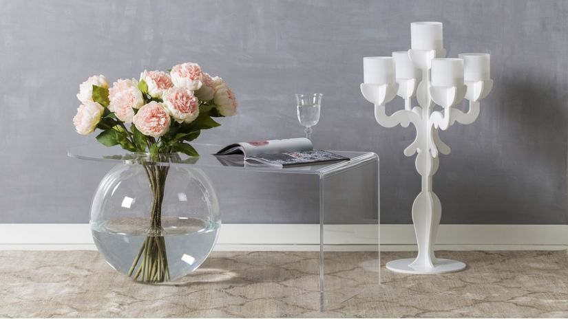 Vase rond transparent