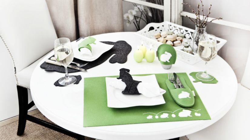 Dessous de verre vert et noir