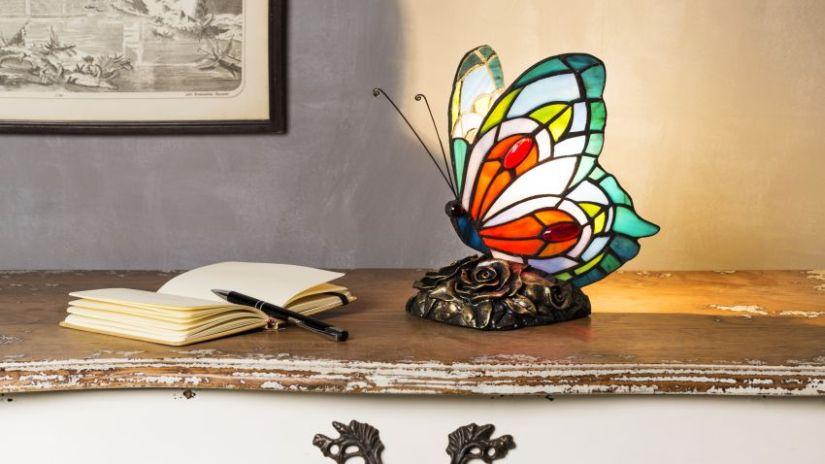 Lampe multicolore en forme de papillon