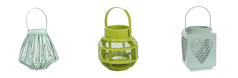 Lanternes vertes pour la maison