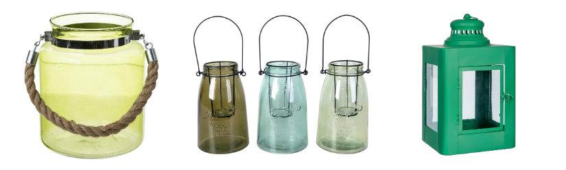 Lanternes vertes pour le jardin