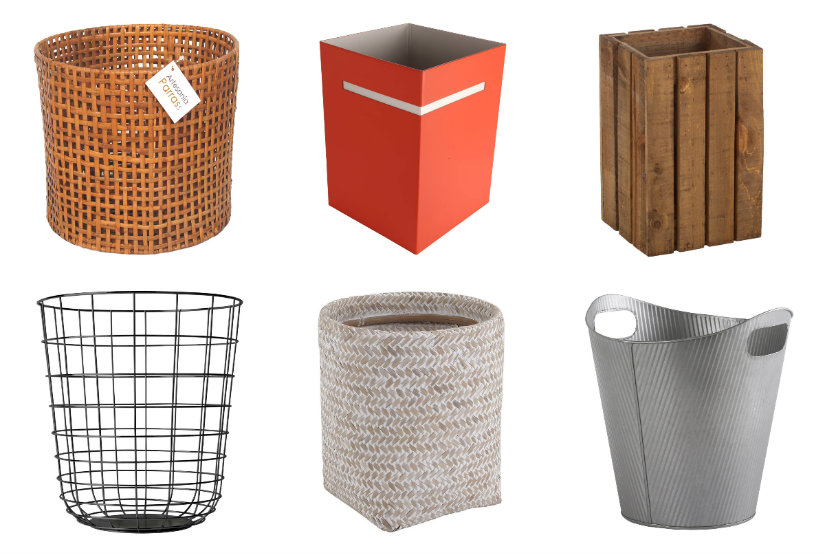 Corbeille à papier design et tendance