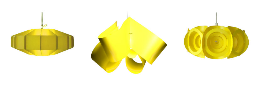Suspension jaune design en plastique