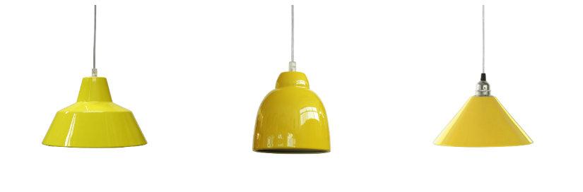 Suspensions de couleur jaune