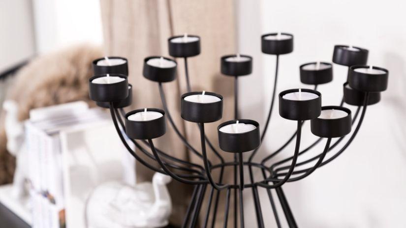 Bougeoir design pour bougies chauffe-plat