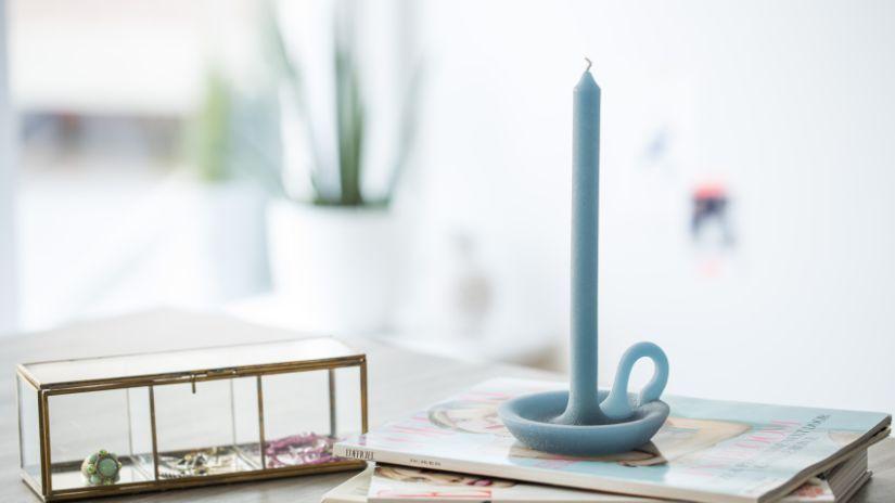 Bougie fantaisie en forme de chandelier