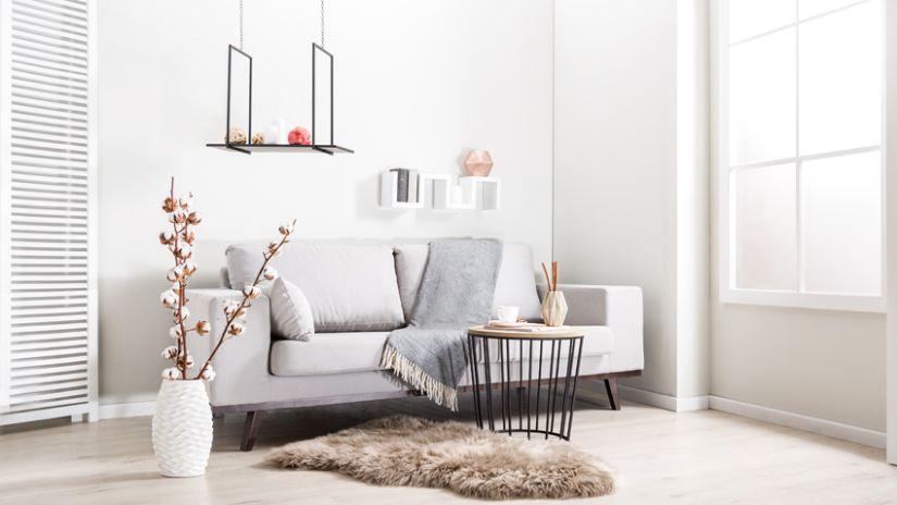 Bout de canapé scandinave métal et bois