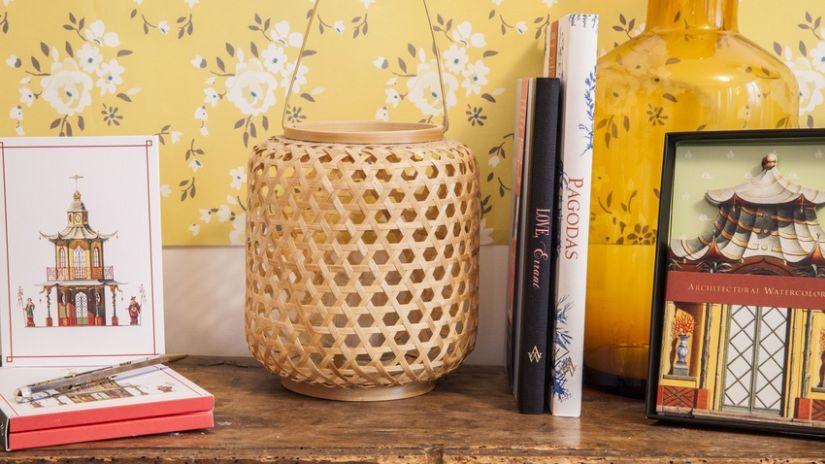 Lanterne bambou de style asiatique