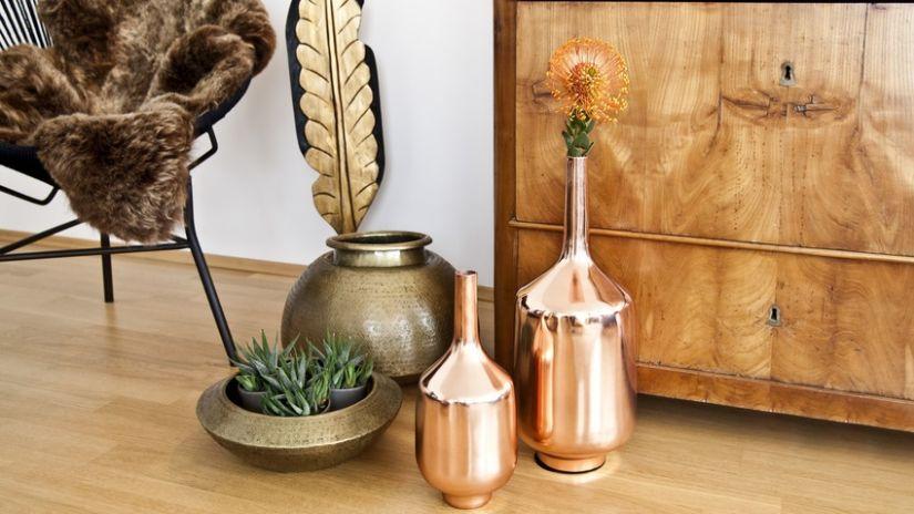 Grand vase scandinave en cuivre