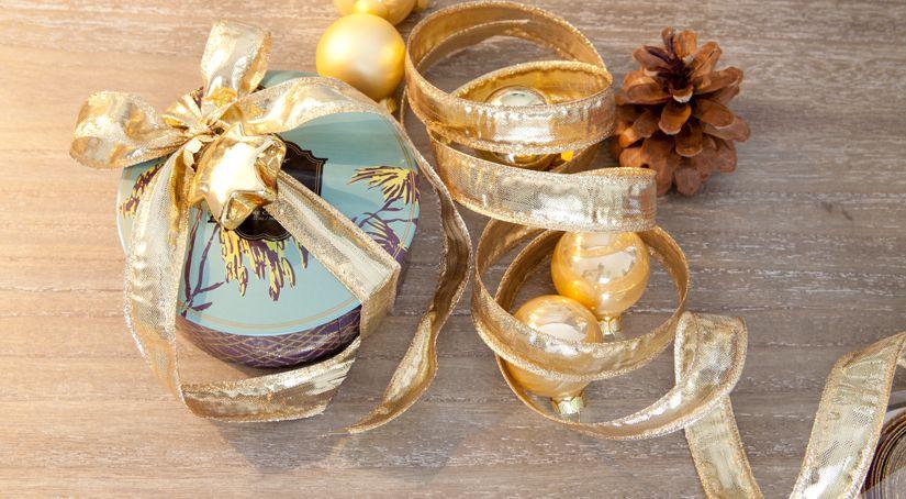 Mini boules de Noel dorées