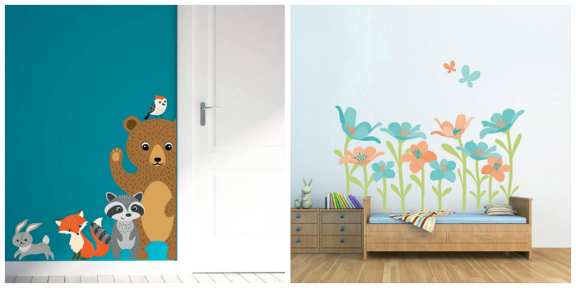 Adesivi murali per bambini largo alla fantasia dalani e - Adesivi per cameretta bambini ...