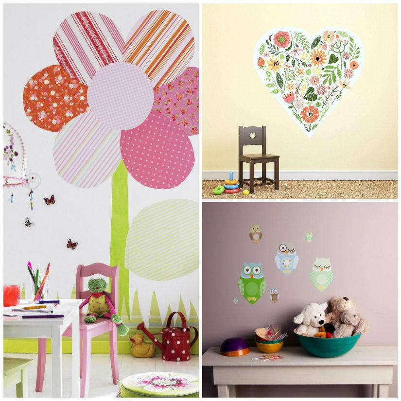 adesivi murali per bambini cameretta armadio lettino scrivania