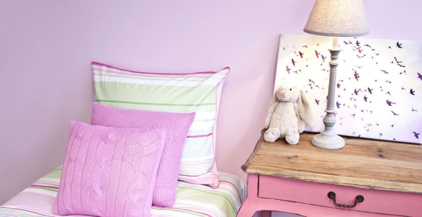 lettino per bambina rosa