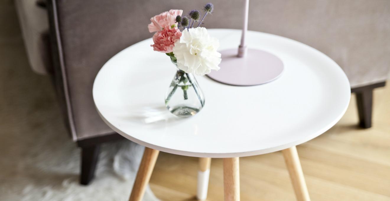 mobili in stile nordico, tavolino 50 cm