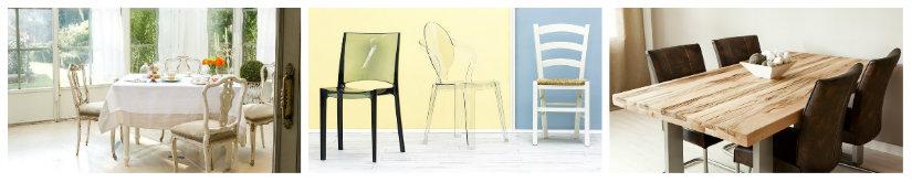 sedie da cucina in plexiglass in legno