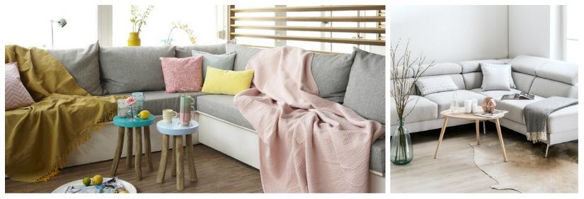 divani angolari cuscini tavolini sgabelli plaid