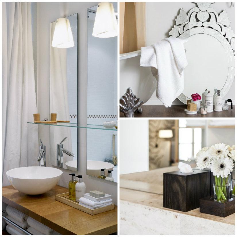 specchi da bagno sopra il lavabo
