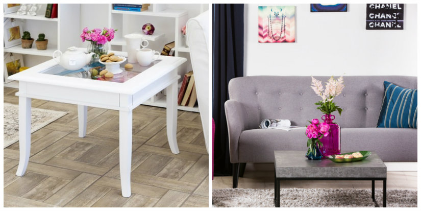 tavolino da salotto bianco