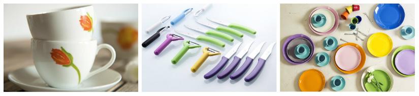 accessori per la cucina tazze coltelli piatti